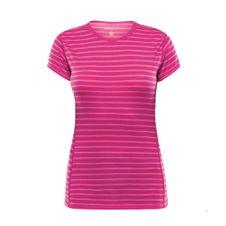 Termoprádlo žena Devoldová Breeze triko t-fuchsiová pruhy