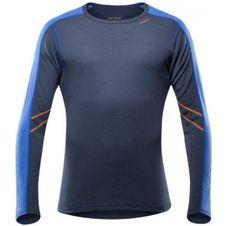 Pánské tričko Devold Sport dl. rukáv - Black / Blue