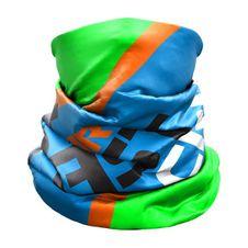 Nákrčník Crazy Idea Neck Gaiter Light - Green Fluo Wild Blue Rebel