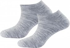Ponožky Devold Daily Shorty sock 2PK - Grey Melange
