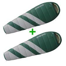 Sada zelená Husky Magnum spací pytle-15 ° C 1 + 1