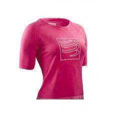 Compressport Training T-shirt Pink W