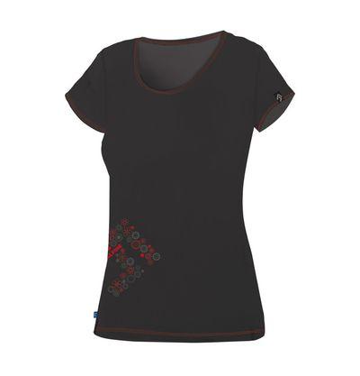 Tričko Directalpine Furry lady - black/red