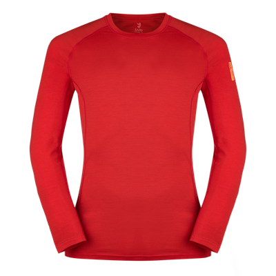 Termoprádlo Zajo Bjorn Merino Tshirt LS - racing red