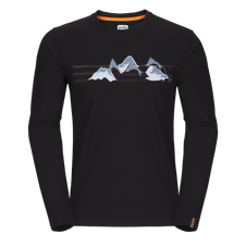 Tričko triko T-černá Zajo Bormio LS 2